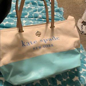 Kate Spade Canvas Purse Tiffany Blue